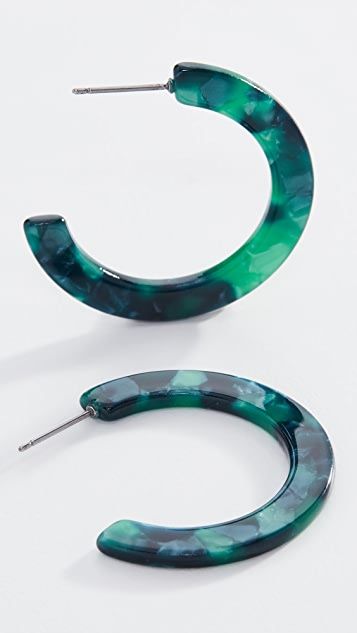 Shashi Verde Hoop Earrings