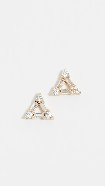 Shashi Trilogy Stud Earrings