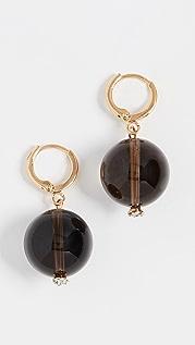 SHASHI 镶珠宝石英耳环