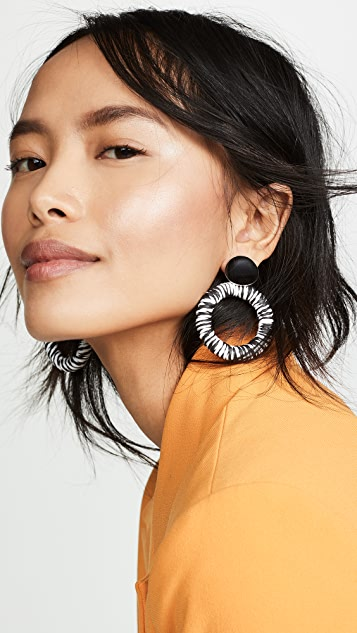 SHASHI Black Dahlia Earrings