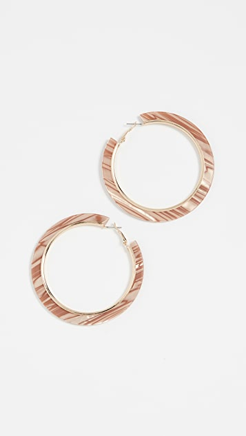 Shashi Hype Hoop Earrings