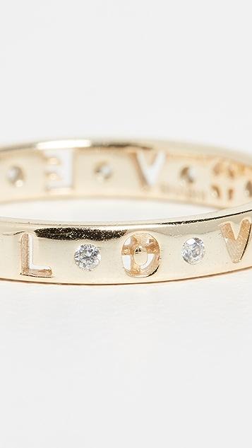 Shashi Кольцо с надписью «Love»
