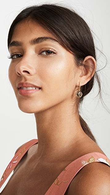 Shashi Baby Warrior Huggie Earrings