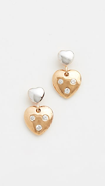 Shashi Heart Of Stone Earrings