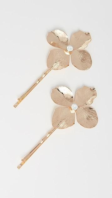 Shashi 金色花朵别针