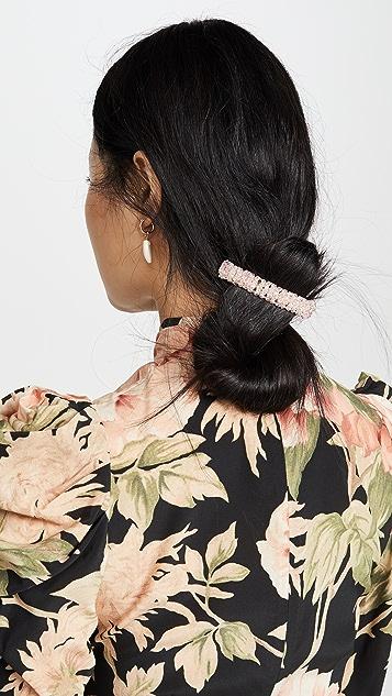 Shashi 粉色水晶发夹