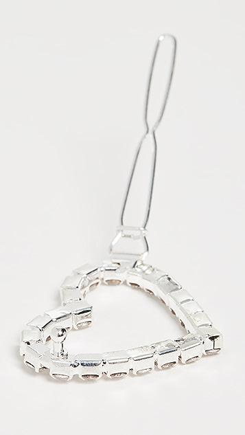 Shashi Heart Diamond Clip