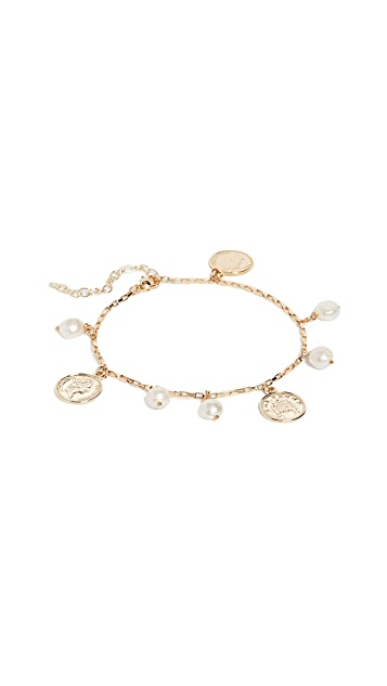 Shashi Coin and Pearl Anklet