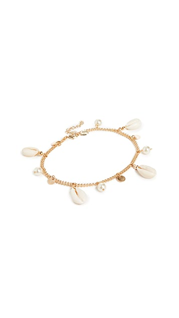Shashi Pearl and Shell Anklet