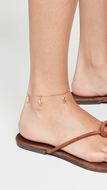 Gold Shell Anklet by Shashi