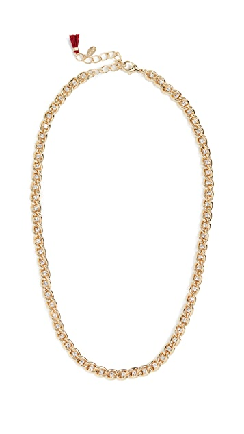 Shashi Sarah Curb Chain Necklace