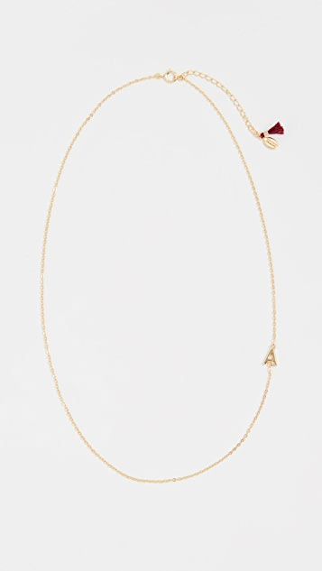 SHASHI Letter in Chain Necklace