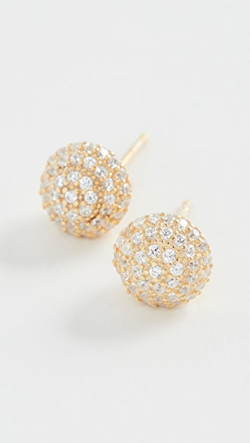 SHASHI Disco Stud Earrings
