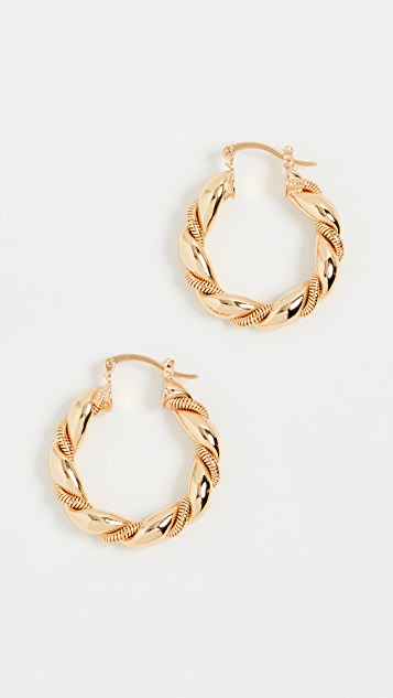 Shashi So Twisted Hoops