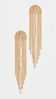 SHASHI Golden Waterfall Earrings