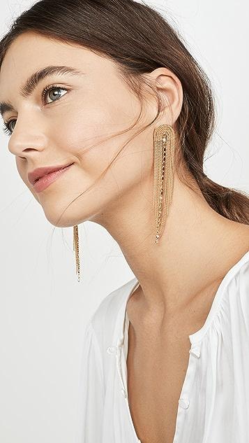Shashi 金色瀑布状耳环