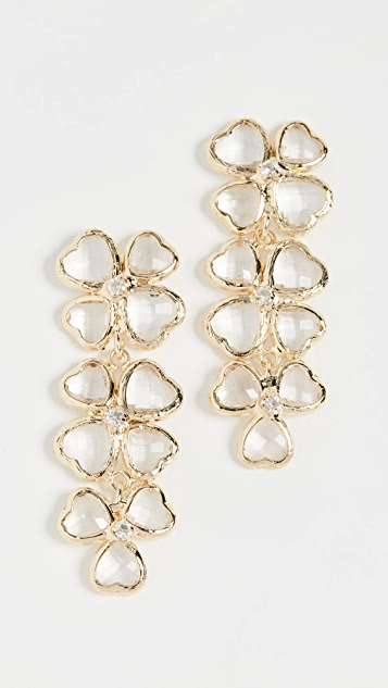 SHASHI Bouton d'or Earrings