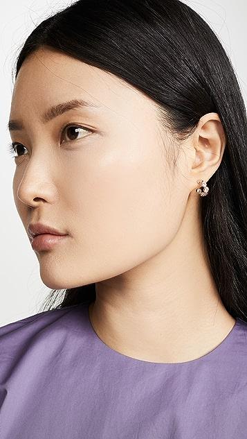 Shashi 单颗宝石贴耳耳环