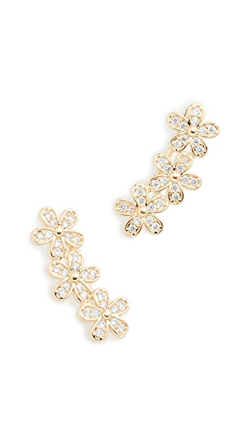 Shashi Blossom Climber Earrings
