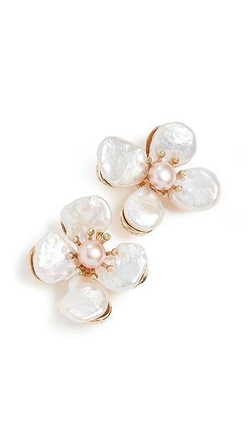 SHASHI Perle Blossom Earrings
