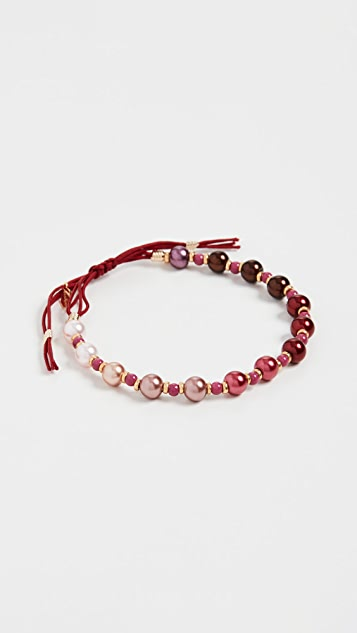 Shashi Burgundy Ombre Bracelet