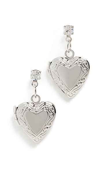 Shashi Heart of Steel Earrings