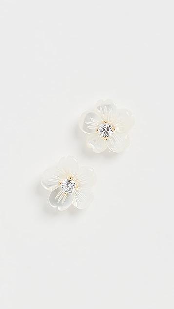 Shashi Серьги-гвоздики Florasion