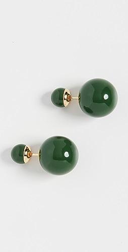 SHASHI - Verde 双球形耳环