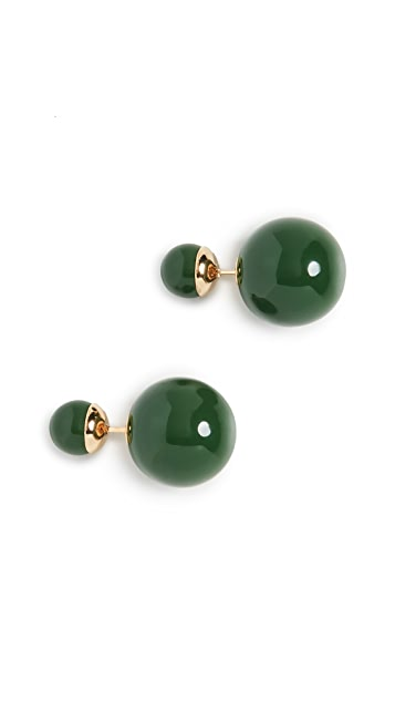 Shashi Verde 双球形耳环