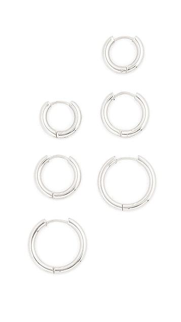 Shashi Triplès 圈式耳环