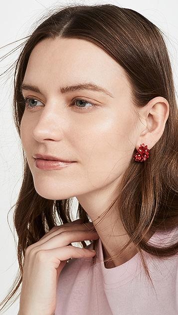SHASHI Bloom Hoop Earrings