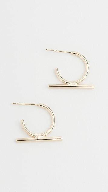 SHASHI Bijou Hoop Earrings