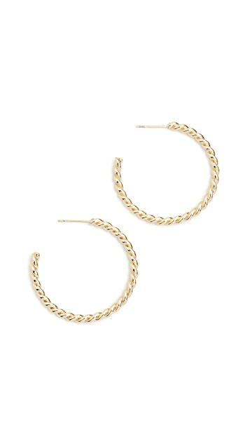 SHASHI French Twist Hoops