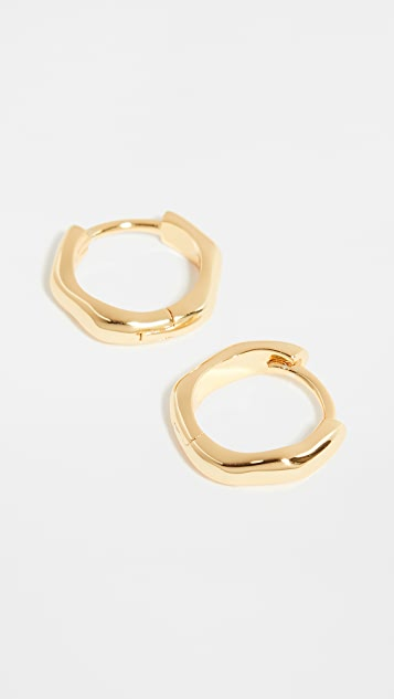 SHASHI Liquid Metal Hoop Earrings