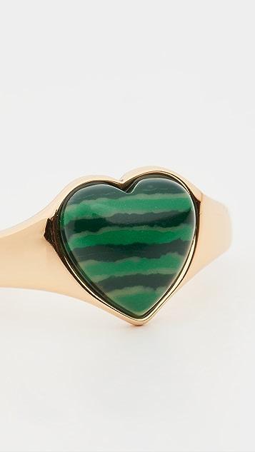 SHASHI Verde 图章戒指