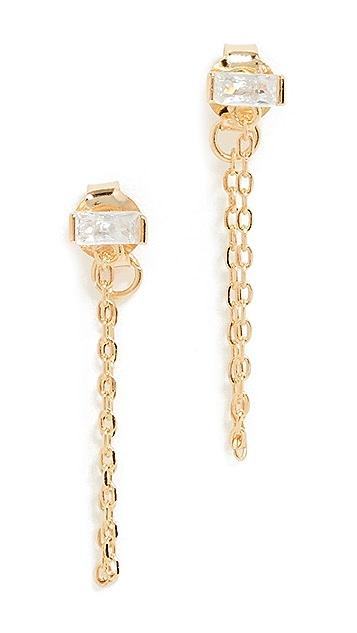 Shashi Baguette Chain Earrings