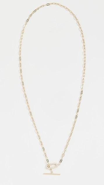SHASHI Jade Pave Necklace