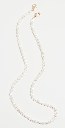 SHASHI - Empress 珍珠面罩链条