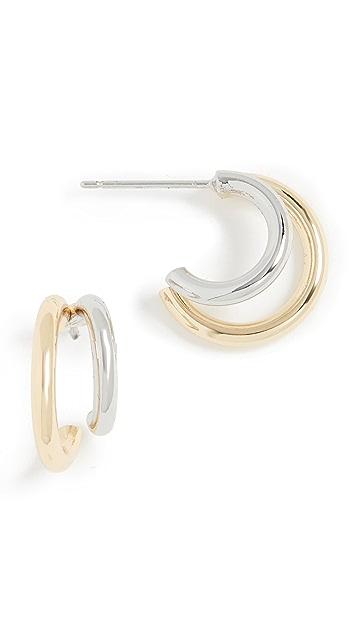 SHASHI Gemini 圈式耳环
