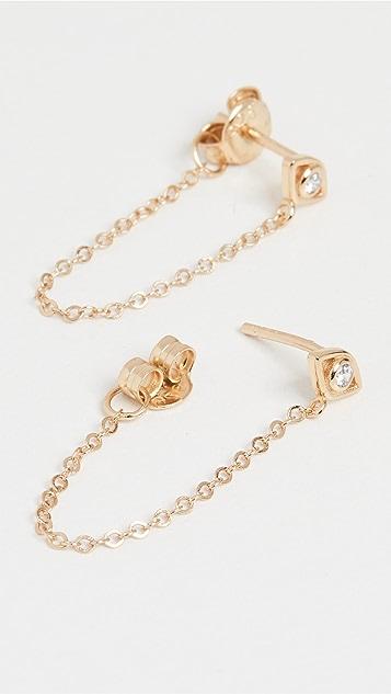 SHASHI Violet 链条耳环