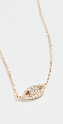 SHASHI - Evil Eye Pave Necklace