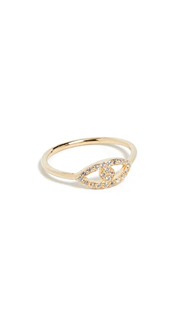 SHASHI Evil Eye Pave Ring