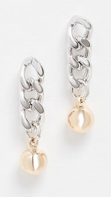 SHASHI Ball n' Chain Earrings