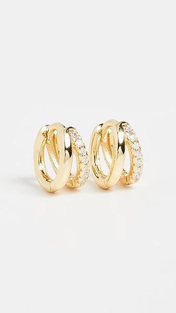 SHASHI Mariah Hoop Earrings
