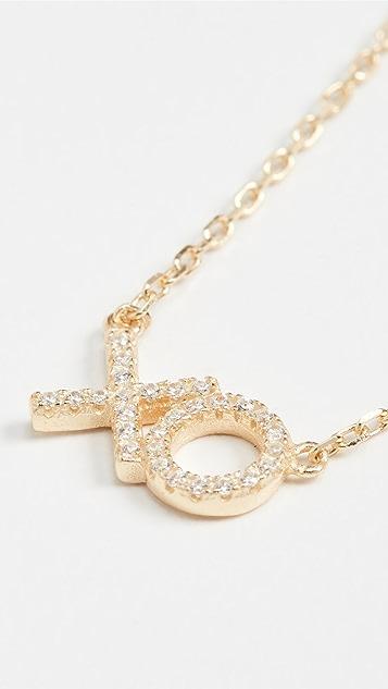 SHASHI XO Pave Necklace