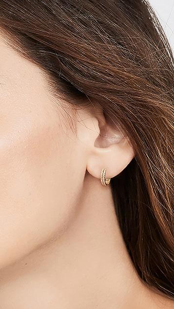 SHASHI Thea Huggie Earrings