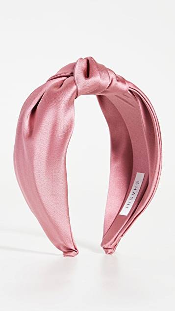 SHASHI Satin Knot Headband