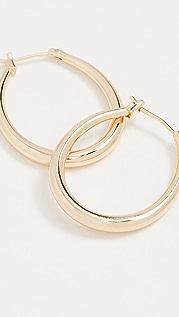 SHASHI Ovale 圈式耳环