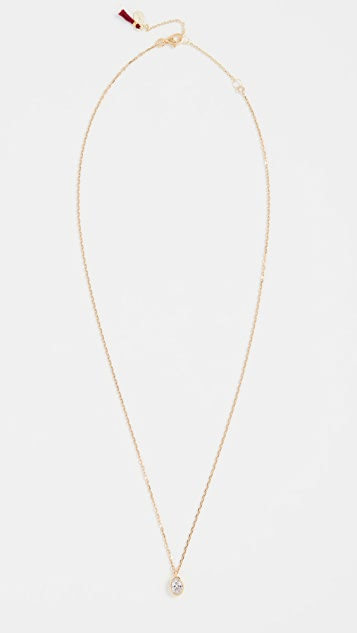 SHASHI Oval Solitaire Necklace