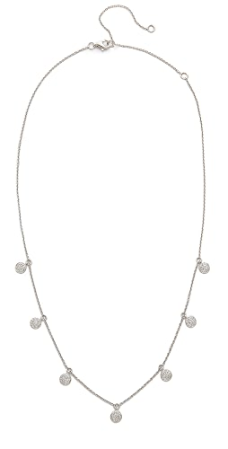 SHAY - 18k White Gold Pave Diamond Dangle Drop Necklace